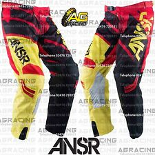 Answer 2016 Adult Elite Red Black Yellow Race Pants 34 Inch Motocross Enduro