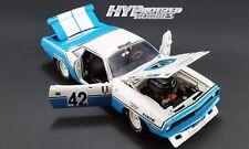 ACME 1:18 1970 PLYMOUTH BARRACUDA #42 HENRI CHEMIN DIE-CAST BLUE A1806102