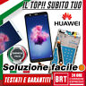 DISPLAY LCD+TOUCH SCREEN+FRAME HUAWEI P SMART FIG-LX1 LX2 ENJOY 7S SCHERMO VETRO