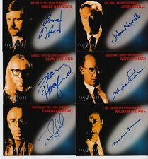 1998 TOPPS THE X-FILES FIGHT THE FUTURE FILM SET OF 6 AUTHENTIC AUTOGRAPH CARDS