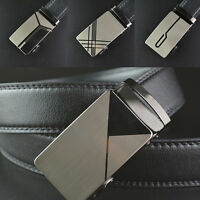 Men's Luxury Automatic Buckle Waistband Belts Waist Strap PU Leather Belt Pro#