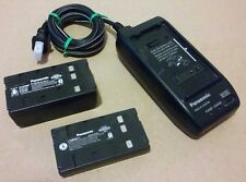 GENUINE PANASONIC PV-A17 VIDEO CAMERA AC ADAPTER + (2) 6V BATTERIES - JAPAN