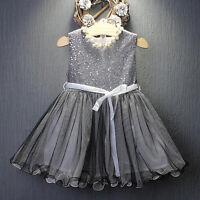 Toddler Kids Baby Girl Princess Tutu Dress Sequin Party Wedding Ball Tulle Dress