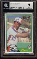 1981 Topps Traded #816 Tim Raines Rookie RC Montreal Expos BGS 9 Mint = PSA 9