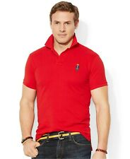 Polo Ralph Lauren Mens POLO BEAR Logo Solid Polo Shirt CUSTOM SLIM FIT  Small