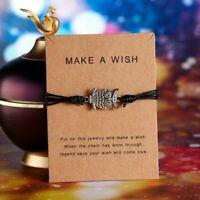 Owl Bracelet Fashion Wish String Adjustable Friendship Men Women Bangle Gift