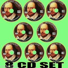 WILLIAM SHAKESPEARE MP3 AUDIOBOOKS 8 CD OTHELLO KING LEAR TEMPEST ROMEO & JULIET