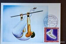 BARRE FIXE  1968 CARTE MAXIMUM MONACO  Premier Jour 1°  FDC  Yt 741