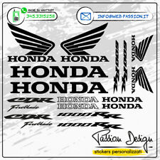 Adesivi Stickers HONDA CBR 600/1000 Kit 16pz Moto HONDA Personalizz. vari colori