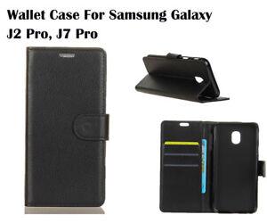 For Samsung Galaxy J2 Pro, J7 Pro Screen Protector/Flip Card Slot Wallet Case