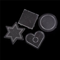 4Pcs/lot Square Round Star Heart Perler Hama Beads Peg Board Pegboard for 2.6 CR