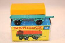 Matchbox Lesney 2 Mercedes Trailer BPW very near mint in box