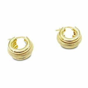 Pre-Owned 9ct Gold Creole Earrings Small