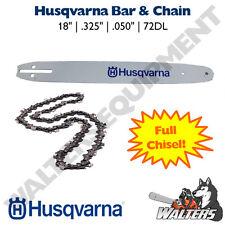 "Genuine Husqvarna Bar & Chain 18""   585943272 & 501840872   445, 450, 350, 550XP"