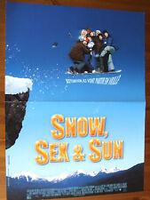 AFFICHE SNOW,SEX & SUN JASON LONDON LEE MAJORS THE MALLOYS 2001 40 X60 CM