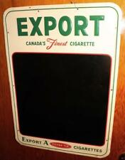 Vintage Export A Cigarettes Metal Advertising Sign Diner Menu Chalkboard !
