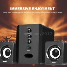 USB Wired 2.1 Computer Speakers + Subwoofer 3.5mm Jack for Desktop Laptop PC
