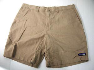 "Patagonia Mens Shorts 35 Brown Chino Hiking Fishing 7.5"" Inseam Organic Cotton"