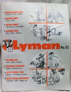 LYMAN GUN SIGHT COMPANY ADVERTISING SALES CATALOG NO.43 VINTAGE 1961 FIREARMS
