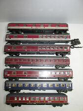Convolute 7 Röwa Scale H0 Railway Passenger Cars Buffet Car Sleeper