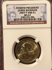 2007-P SMS JAMES MADISON FOURTH  PRESIDENTIAL DOLLAR $1 NGC MS67