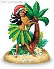 Hawaiian ISLAND HULA HONEY XMAS ORNAMENT Hawaii New NIB Santa Girl Hula On Beach