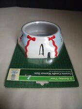 New Ceramic Candle Jar Warmer Skirt Cover Holiday Christmas Snowman Penguin Nib