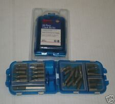 NEW 26 PC MAGNETIC DRILL BIT HOLDER IMPACT DRIVER PHILLIPS SLOTTED SET & CASE