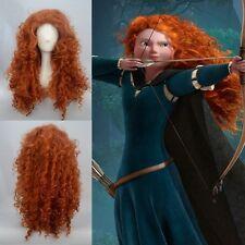 Hot Sell! Disney Pixar Animated movie of Brave MERIDA cosplay wig