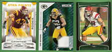 Clay Matthews GAME USED JERSEY + PRESTIGE ROOKIE XTRA PT #d250+ SCORE RC PACKERS