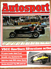 Autosport 7/7/83* PROST'S CAREER & RENAULT RE40 POSTER - SNETTERTON F3