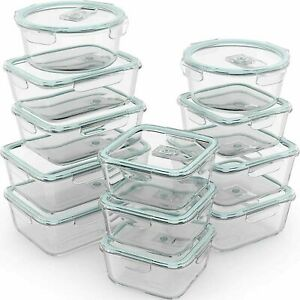 Razab 24pc (12 Containers) Glass Food Storage Containers Airtight Lids - $59.99