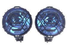 2 Fernscheinwerfer BLAU CHROM Halogen H3 12/24V SET Zusatzscheinwerfer Fernlicht