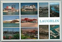 Laughlin Nevada NV Vintage Multi-View Postcard©1987 Riverside Nevada Club Sams