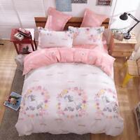 Pink Horse Cotton Doona Duvet Quilt Cover Kids' Bedding Set Single Queen King