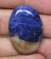 NATURAL SODALITE CABOCHON OVAL SHAPE 27 CTS LOOSE GEMSTONE D 9100