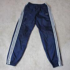 VINTAGE Adidas Windbreaker Pants Adult Medium Blue White Spell Out Men 90s