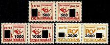 2001 PORTO,POSTAGE DUE,Post horn,TAX,Portomarken,surcharged,Romania,Mi.P.140,MNH