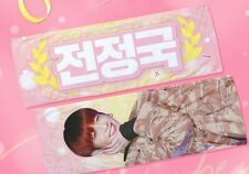 BTS JungKook slogan banner with gray reflection from fansite+5 stickers+ 3 photo