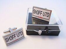 SHEFFIELD UTD UNITED NUMBER PLATE STYLE BADGE MENS CUFFLINKS CUFF LINKS GIFT