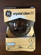 Lot of 3! BRAND NEW GE 60W Crystal Clear G25 Bulb DECORATIVE