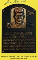 Joe Sewell Autographed Hall of Fame Card