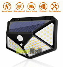 Waterproof Solar Light 100 LED Wall Lamp Outdoor Motion Sensor Detector Garden