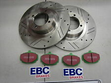 MG MGB COMPETITION DISC BRAKE ROTOR KIT - SLOTED DRILLED + EBC GREENSTUFF PADS