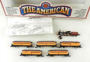 Bachmann N #50-4405 Union Pacific 4-4-0 STEAM LOCOMOTIVE & 5 CARS ~ MS