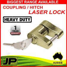 HITCH LASER LOCK LOCK 2 KEYS TRAILER COUPLING CARAVAN 4X4 CAMPER ANTI THEFT PIN