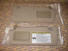 Toyota Tacoma Cloth Tan Sun Visors LH   RH w Extensions   Mirror 2005-2014 b3f81d49cfa