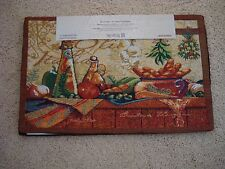 Home Tradition Tapestry Placemats Set/4 ITALIAN Bread OLIVE OIL Garlic PEPPERS