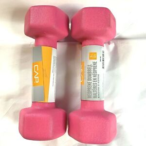 Neoprene Coated Hex Dumbbell Weights 3 Pound Neon Pink CAP Pair Set of 2