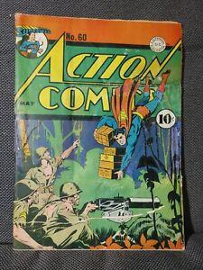 Action Comics 60 (5/43) WWII cover. 1st Lois Lane as Superwoman   FR/GD